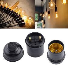 8pcs E27 Ampoule Porte-pendentif Vis à Prise en Spirale Douille Socket Noir