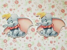 2 x Large Dumbo Elephant Planar Resin Hair Bow Crafts Embellishments Charms DIY