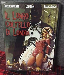 IL Lungo Coltello Di Londra DVD Christopher Lee Klaus Kinski Nuova Sigillato N