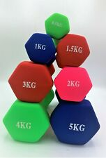 ** DUMBBELL HAND WEIGHTS * HOME GYM FITNESS TRAINING * 0.5KG - 5KG * PAIRS **