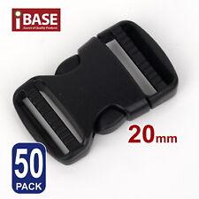 50x Quick Release Buckle Clip Side Cord Strap Fastener Belt Dual Adjustable 20mm