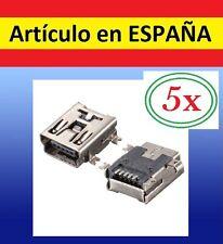 5 Piezas conector MINI USB B HEMBRA teléfonos movil pc ordenador reparacion 5pin