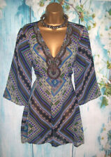 LADIES PER UNA TOP SIZE 14, Gorgeous Jewel Kaftan Kimono summer holiday Tunic
