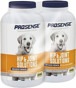 2 PACK - ProSense Advanced Strength for Dogs Glucosamine Chew Tablets 120 ct