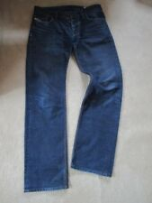 MENS DESIGNER DIESEL LARKEE REGULAR STRAIGHT FIT JEANS W33 L34 BLUE ITALIAN VGC-