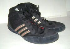 MENS ADIDAS APE 779001 BLACK RED GOLD WRESTLING SHOES BOOTS Size 8.5 RARE