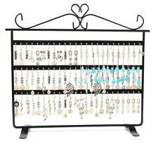 72 Holes Earring Necklace Jewelry Display Show Rack Metal Stand Holder Organizer