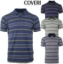POLO UOMO MANICA CORTA COVERI COLLECTION FANTASIA RIGHE COTONE JERSEY M L XL XXL