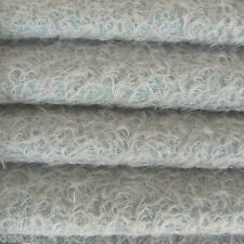 "1/6 yd 300S/CM Soft Blue INTERCAL 1/2"" Ultra-Sparse Curly Matted Mohair Fabric"
