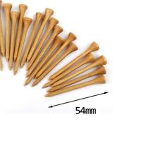 "100 PCS Bulk Professional Nature Wood Wooden Golf Tees 54MM 2 1/8""Long"