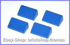 LEGO 4 X Dachstein bleu 1 x 2 x 2/3 - 85984-Blue Slope-Neuf/New