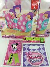 Minnie Mouse Birthday Favor Loot Bag Snack Caddy Ribbon Decor Disney Hallmark