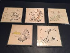Japanese Prints: (5) from I. Magnin & Co. San Francisco - purchased 5/16/1950