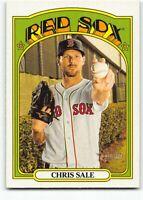 2021 Topps Heritage SP Short Print #444 Chris Sale Boston Red Sox