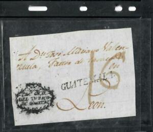 GUATEMALA COVER (P1809B) COVER FRONT PRESTAMP 16 TO LEON