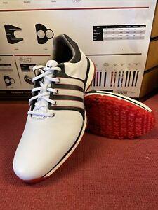 Adidas TOUR360 XT-SL Golf Shoes UK9.5 Wide White/Black/Red