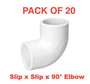 """3/4"""" PVC Elbow <MADE IN THE USA>  Schedule 40 Pressure Fitting Slip x Slip x 90"""