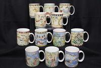 COMPLETE set of 12 222 Fifth TWELVE DAYS OF CHRISTMAS Coffee Mugs +2 BONUS MUGS