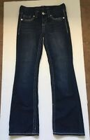 Seven 7 Women's Boot Cut Dark Wash Thick Stitch Stretch Jeans Sz 28
