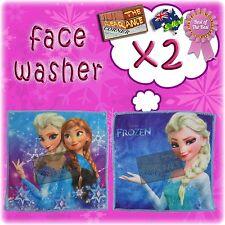 Disney's Frozen Princess Elsa Anna bath face washer / washcloth x2