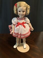 Vintage Shirley Temple Stand Up and Cheer Porcelain Doll In Original Box