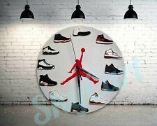 "New Handcrafted 12"" 2D Jordan Sneakers clock nike supreme off white yeezy quartz"