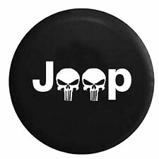 """Skull Spare Wheel Tire Tyre Cover Case Protector 32"""" 33"""" For Jeep Wrangler"""
