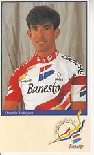 CYCLISME carte  cycliste ORLANDO RODRIGUES équipe BANESTO 1997