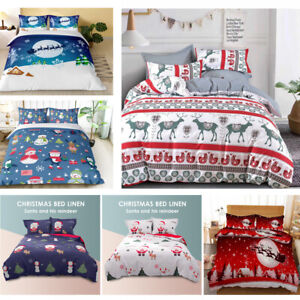 Christmas Ultra Soft Quilt Doona Cover Set Single Double Queen King Xmas Gift
