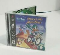 Sony Playstation PS1 Game TINY TOONS PLUCKY'S BIG ADVENTURE Manual and Case CIB