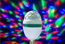 E27 3W RGB Crystal Rotating LED Bulb Club DJ Disco PartyMagic Ball Stage Light
