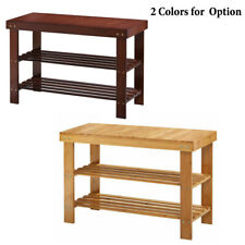 3-Tier Bamboo Storage Rack Shoes Rack Stand Books Shelf Holder Home Furniture