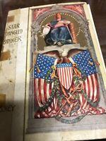 Rare 1907 Americana Poem Book Star Spangled Banner F.S. Key New York Lithograph