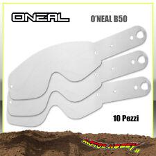 LENTE A STRAPPO TEAR OFF PER MASCHERE O'NEAL B50 10 PEZZI