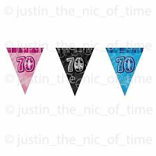 TRIANGLE FLAG BANNER Milestone Party BUNTING Decorations 9ft Glitz 1st - 100th