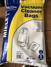 Electruepart BAG306 Microfibre Dust Bags for Miele Vacuum Cleaners - Pack of 5