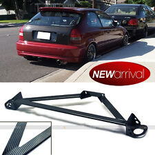 Fit Civic Integra 3 Point Carbon Fiber Paint Front Upper Strut Tower Brace Bar