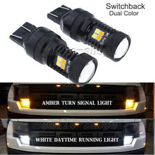 2pcs Bright Switchback DRL Parking Turn Signal LED Lights For 16-17 Accord Civic