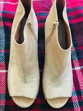 Maison Martin Margiela PARIS dorado pálido Cuero Botines Zapatos 37.5 UK 4.5 nos 6.5