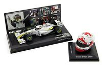 Jenson Button Set - Minichamps 1/43 Spark 1/8 Helmet 2009 World Champion
