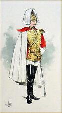 AUTRICHE : ARCHER de la GARDE du CORPS - Gravure du 19e couleur (signé Vallet)