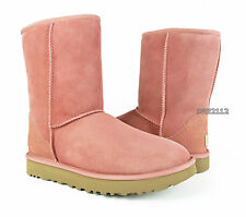 UGG Classic Short II Chemise Pink Suede Fur Boots Size 9 *NEW IN BOX*
