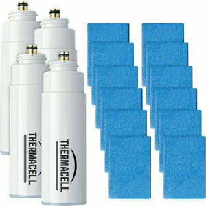 Thermacell Refill Value Pack 48 Hours Odorless R4  4 Butane Cart and 12 Mats