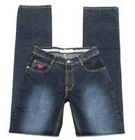 Women's New LBV Paris Straight Leg Jeans Stretch Blue Juniors 5 Inseam 33