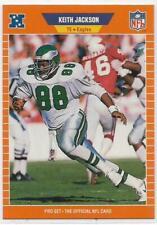 1989 ProSet Keith Jackson Rookie Card #318 Philadelphia Eagles NM RC HOF