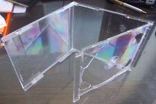 10 doble CD Jewel Case 10.4mm estándar para 2 Cd Con Claro Bandeja HQ AAA Plegable