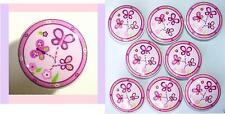8 SUGAR PLUM SUGARPLUM PINK  BUTTERFLY KIDS DRESSER DRAWER KNOBS MADE AS ORDERED