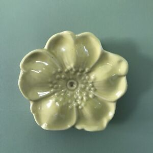 Vintage 1950's McCoy Pottery Flower Blossom Wall Pocket Yellow