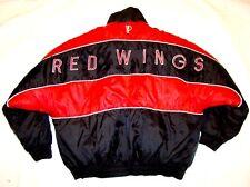 VTG 80s 90s DETROIT RED WINGS Hockey Pro Player REVERSIBLE Bomber Jacket Coat XL
