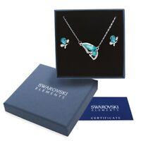 Parure argento Swarovski Element original G4Lov cristalli donna collana farfalla